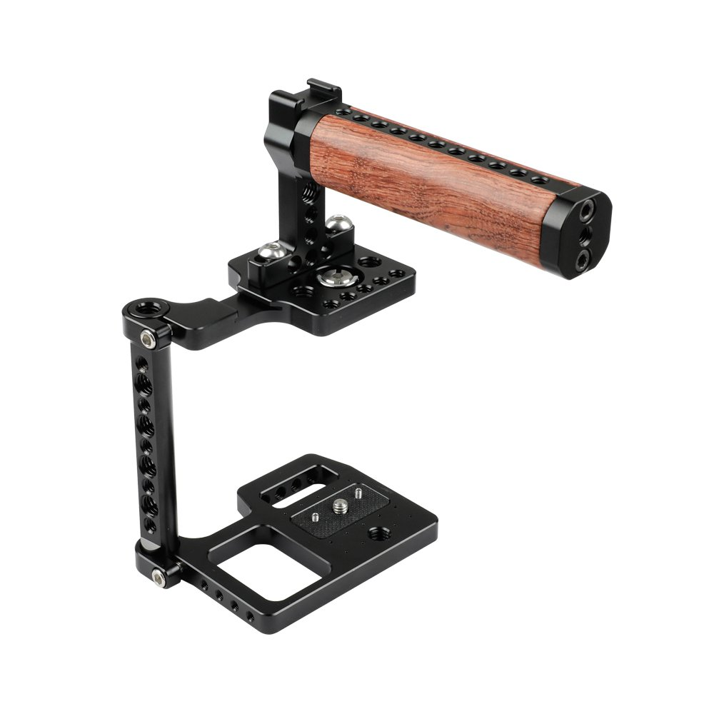 CAMVATE Professional Half Cage With Wooden Top Handle For BMPCC 4K