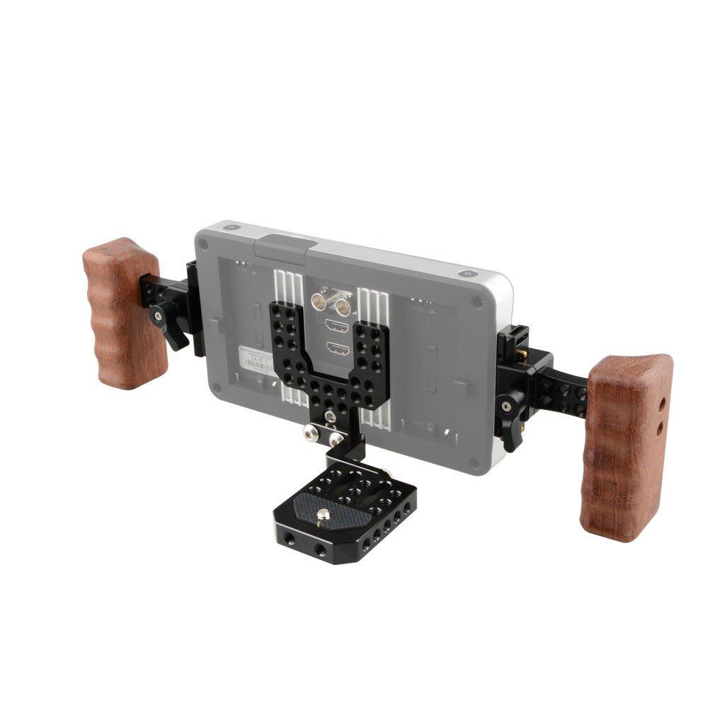 CAMVATE Handheld Monitor Bracket With Baseplate For SmallHD 700 Series C1880