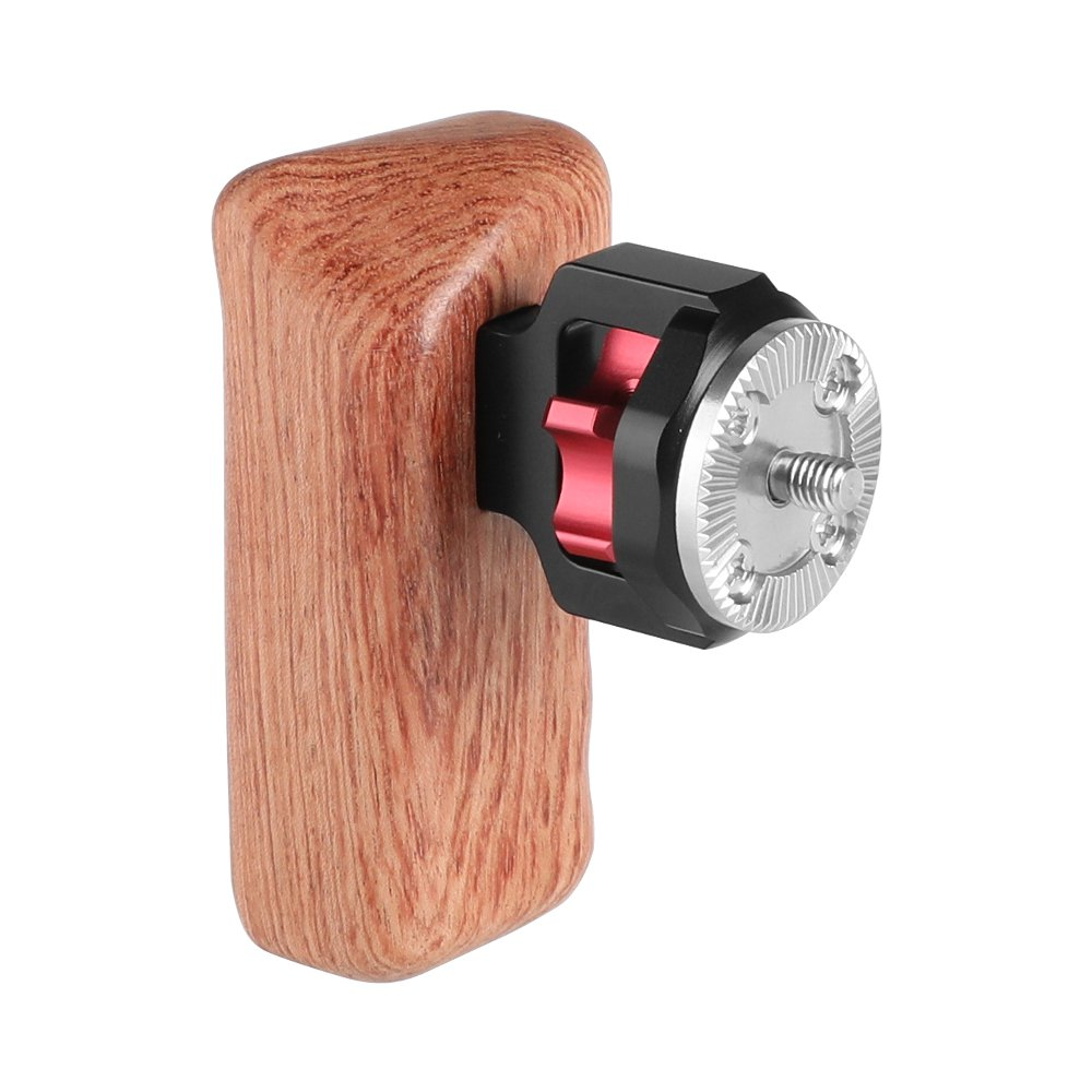 CAMVATE Universal Wooden Handgrip With M6 Rosette Connection For Camera Cage Kit (Left Hand) C2248