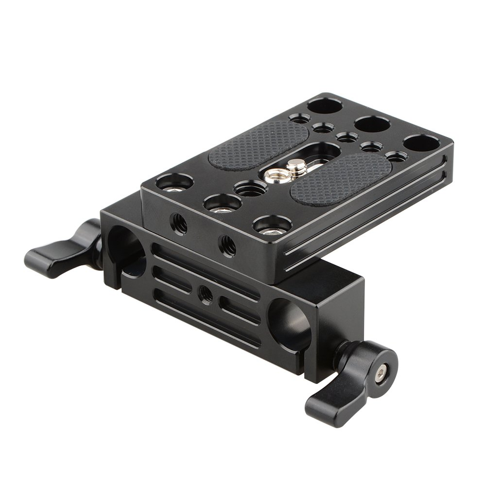 CAMVATE Camera Baseplate Integrated With 15mm Dual Rod Clamp For Shoulder Support Rig C2109