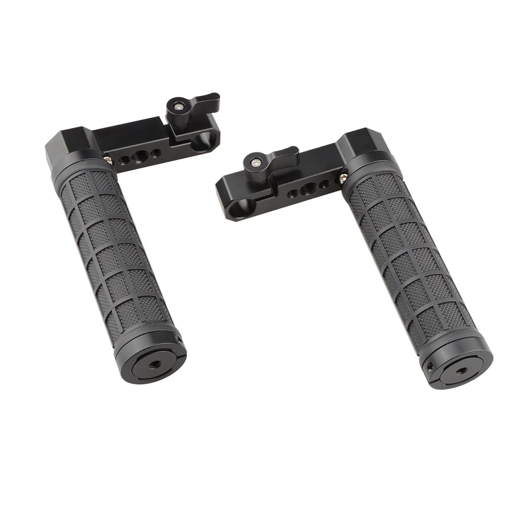 CAMVATE Adjustable Rubber Handgrip L Type For Monitor Cage Rig (A Pair) C2078