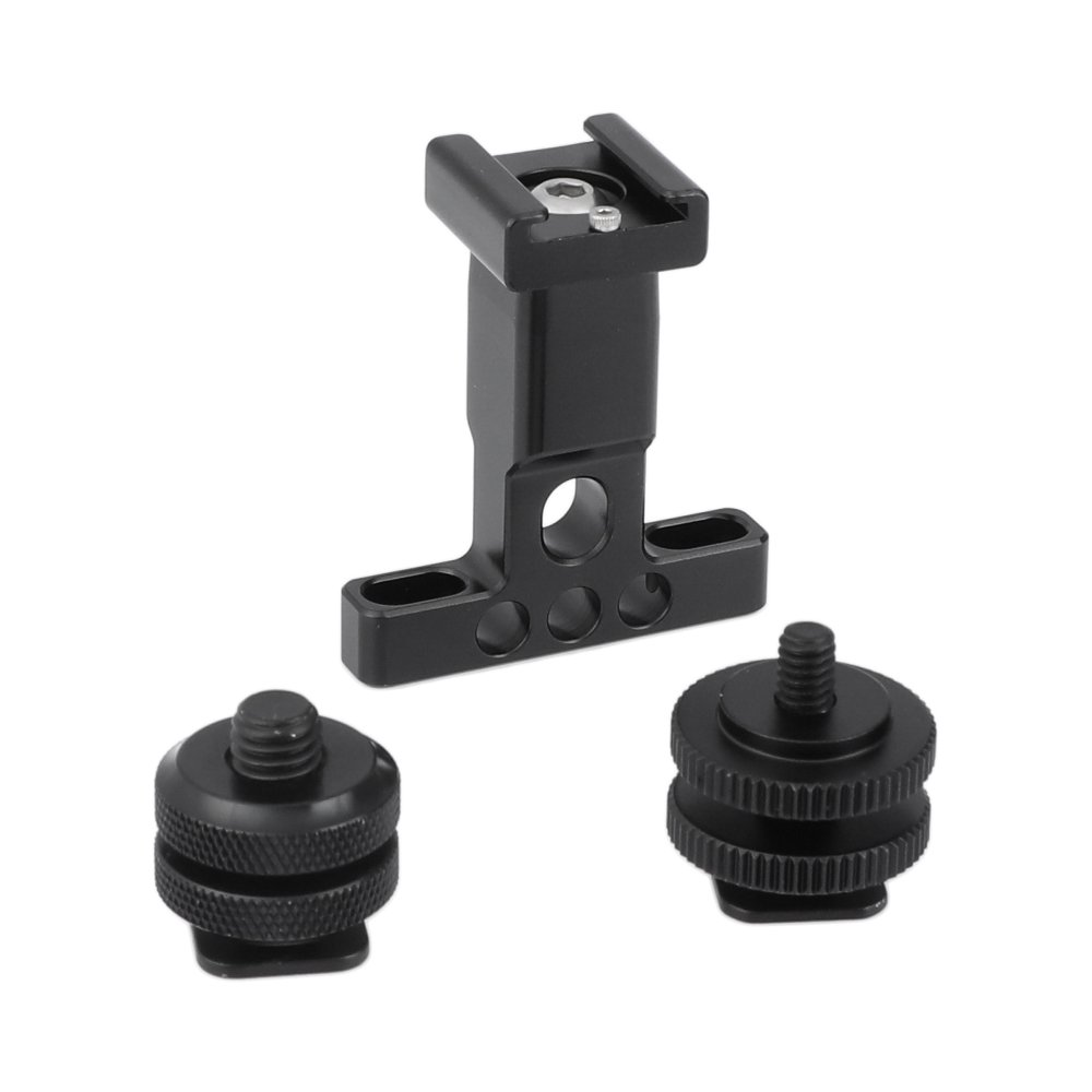 "Support Holder With Detachable Shoe Mount + 1/4"" & 3/8"" Male Thread Mounting Points & Lock NutsC2479"