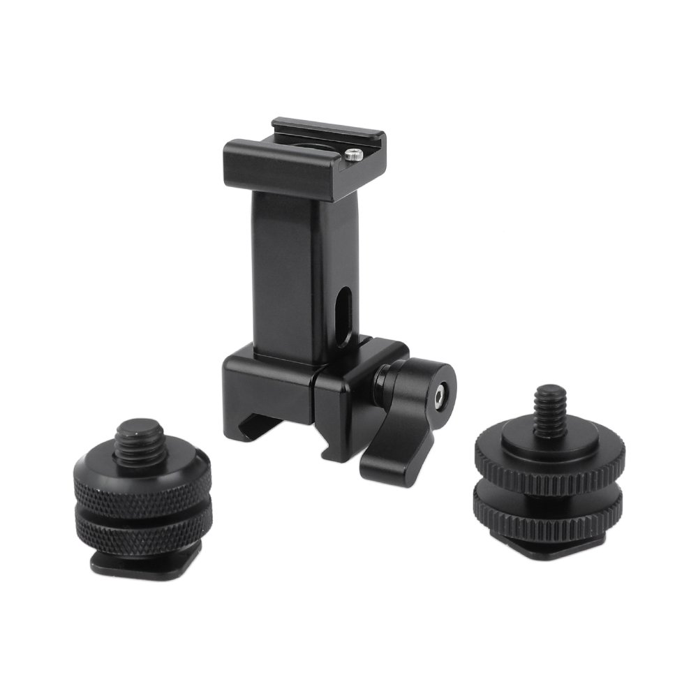 """Quick Release NATO Support Holder With Shoe Mount + 1/4"""" & 3/8"""" Male Thread Mounting Points C2480"""