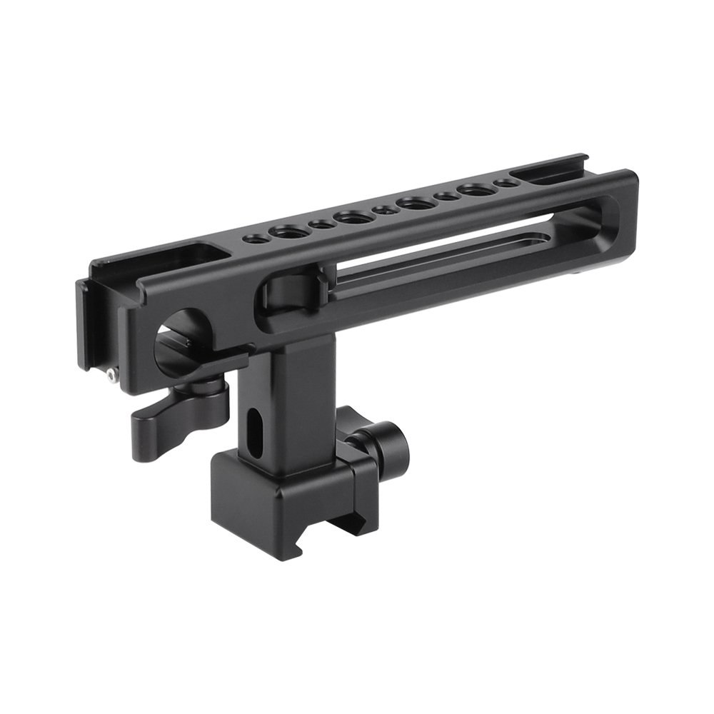 NATO Top Handgrip With Built-in 15mm Rod Clamp & Shoe Mount Adapters For Camera Cage Kit C2486