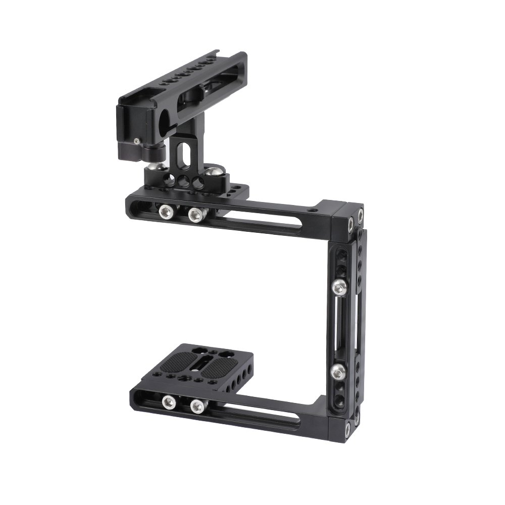 CAMVATE Extension-type Half Cage Kit With Adjustable Top Cheese Handle Grip For DSLR Camera C2491