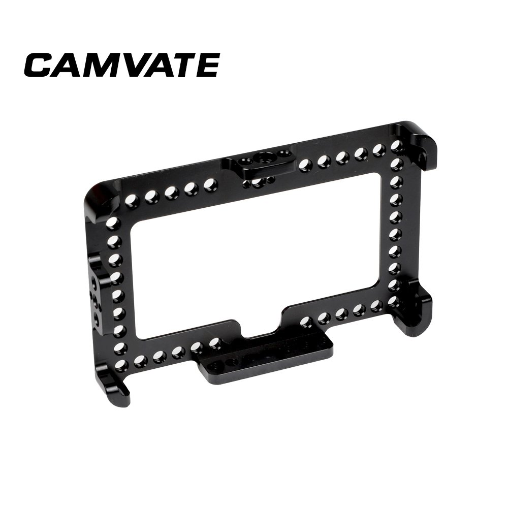 """CAMVATE On-camera Monitor Cage Bracket For FeelWorld F6 Plus 5.5"""" Display  C2497"""