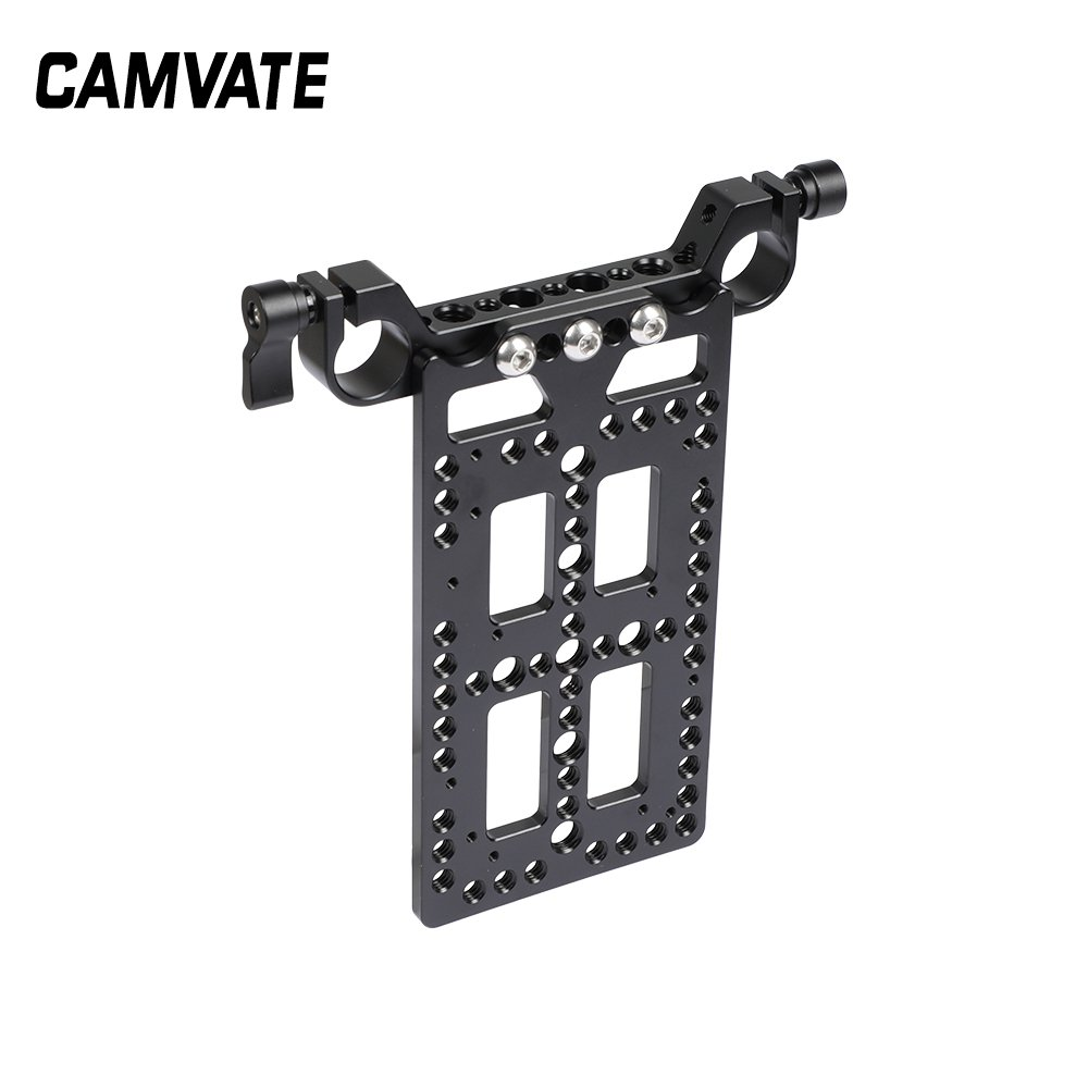 Battery Cheese Plate Backboard Plate With 19mm Railblock For V Lock Mount Power Splitter C2508
