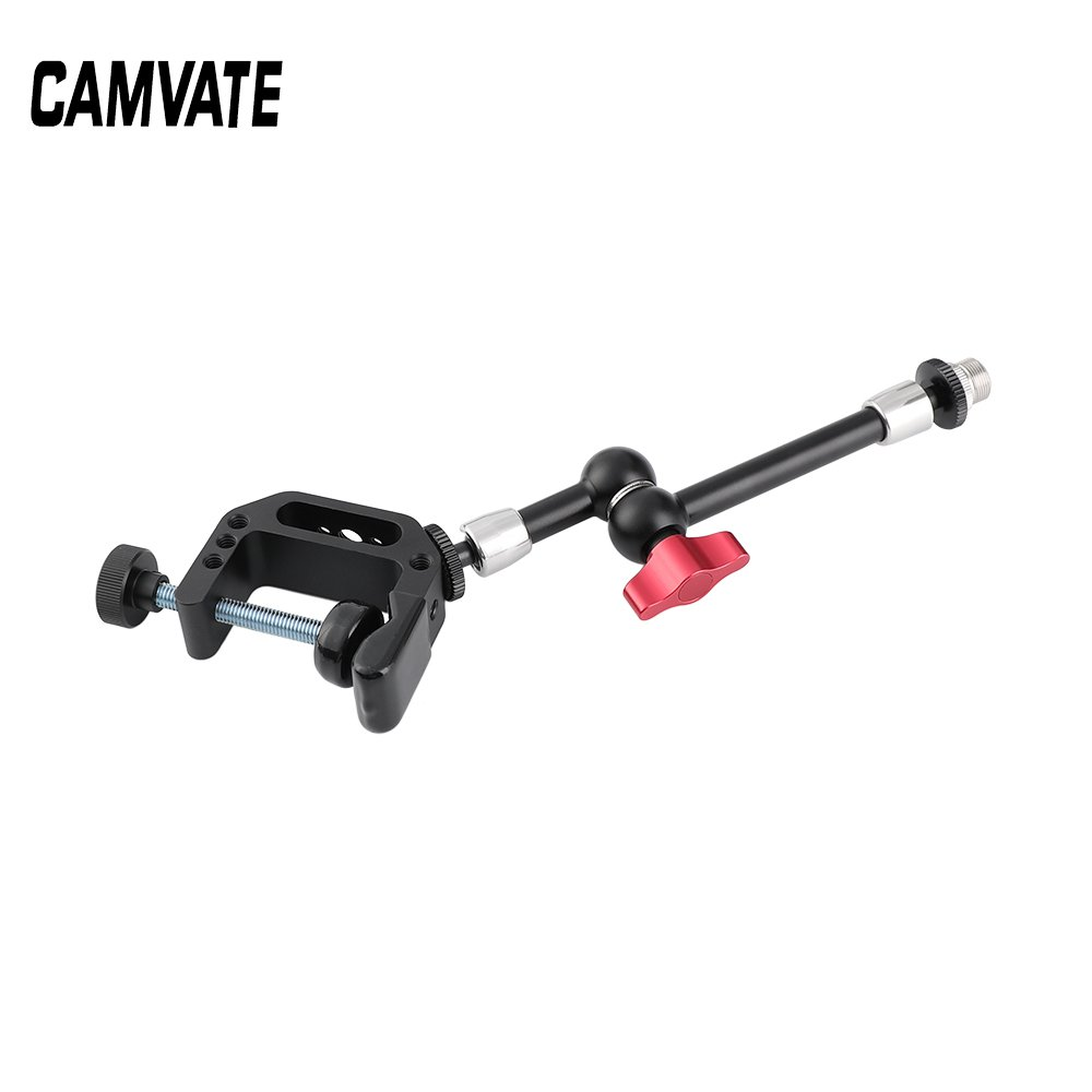 "C Clamp + Articulating Magic Arm (203mm long) With 5/8""-27 Microphone Screw Adapter C2525"