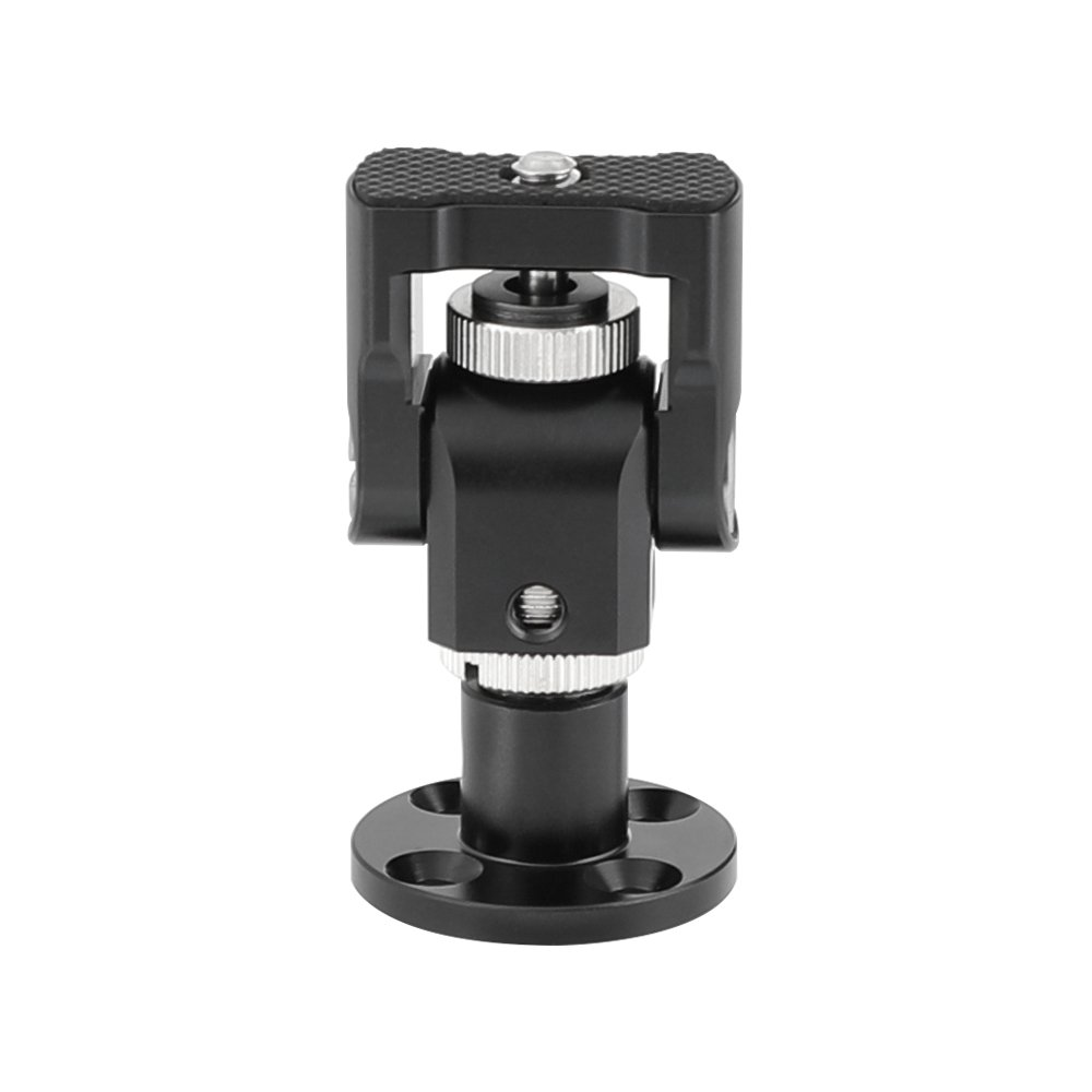 """CAMVATE Camera Monitor Support Holder With 1/4""""-20 Thumbscrew Mount With Circular Wall Mount Base"""