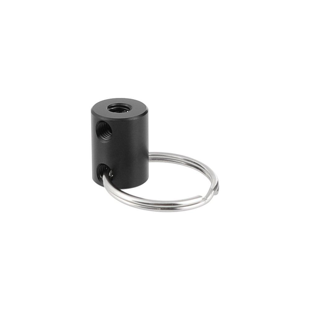 "CAMVATE 15mm Micro Aluminum Rod With 1/4""-20 Thread Holes & Handle Ring C2538"