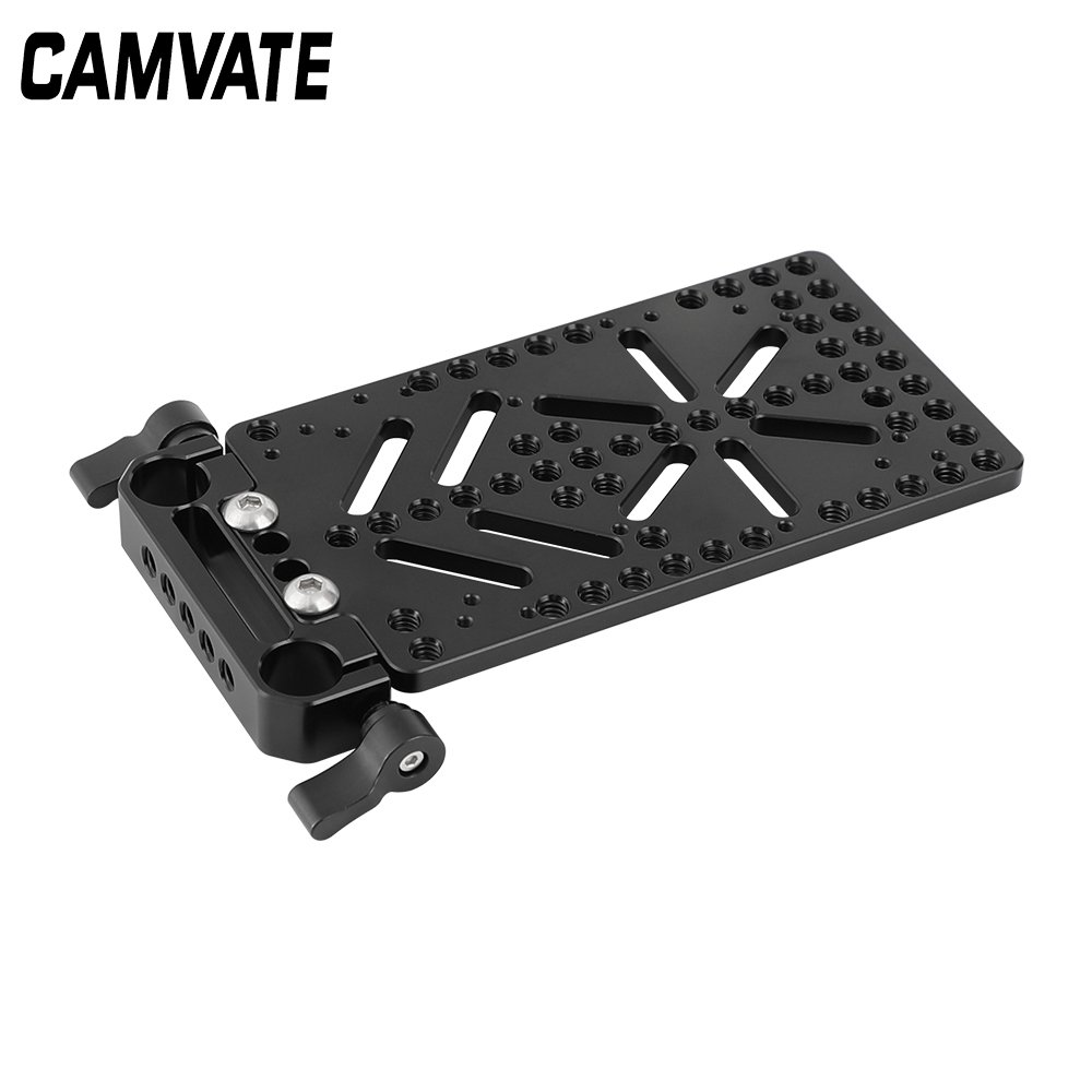 CAMVATE Cheese Plate Battery Backboard With 15mm Rail Block Rod Clamp C2542