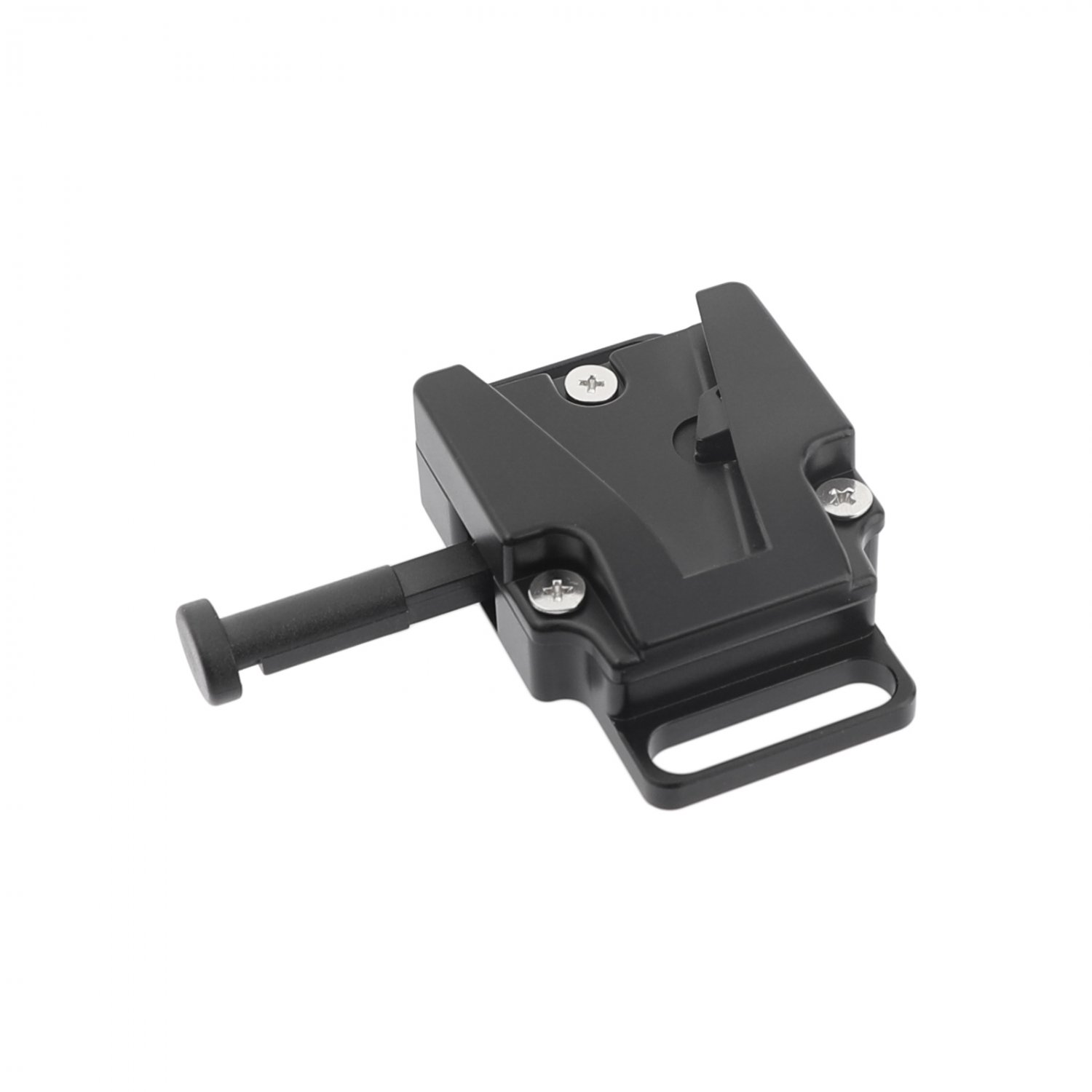 """V-Lock Female Quick Release Adapter With 1/4"""" Mounting Points & Grooves For DSLR Camera Battery"""
