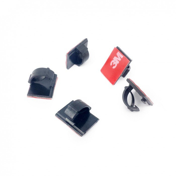 5 Black 3M CORD CLIPS