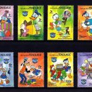 TOGO - 1984 - DISNEY - DONALD DUCK - BIRTHDAY - ANNIVERSARY - MINT SET OF 8!