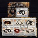 BENIN - 2002 - SNAKES - REPTILE - 2 X CTO NH S/SHEETS!