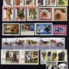 DOGS - POODLE - COLLIE - TERRIER - DOMESTIC +++ 62 DIFFERENT - CTO NH STAMPS!