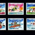 TURKS & CAICOS - 1984 - DISNEY - OLYMPICS - MICKEY - DONALD - MINT SET OF 6!