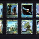BENIN - 1999 - SPACE - SATELLITE - CHINA STAMP EXPO - 8 X MINT SET!