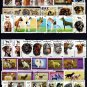 DOGS - SHEPERD - BEAGLE - COLLIE - HUNTING +++ 67 DIFFERENT - CTO NH STAMPS!