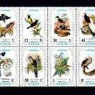 AJMAN - 1971 - BIRDS - PHEASANT - MAGPIE - CUCKOO ++ 8 X MINT - MNH BLOCK!