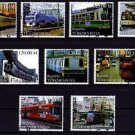 TURKMENISTAN - 2000 - TRAIN - RAILWAY - STREET CAR - TROLLEY - CTO NH SET OF 9!