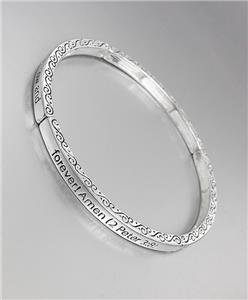 Inspirational Scripture 2 PETER 3:8 JESUS CHRIST Thin Silver Stretch Bracelet