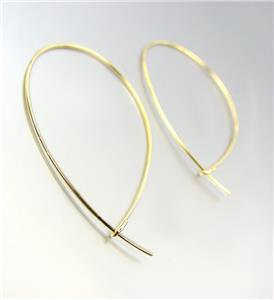 CHIC Urban Anthropologie Lightweight Thin Gold Wire Threader Hoop Earrings