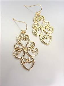 CLASSIC Brighton Bay Gold Filigree Dangle Earrings 51387