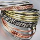 CHIC 15 PCS Antique Burnished Silver Gold Copper Metal PLUS SIZE Bangle Bracelet