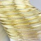 CHIC 44 PC Thin Gold Metal Plus Size Wide Bangle Bracelets