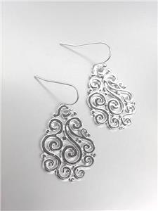CLASSIC Brighton Bay Silver Filigree Dangle Earrings 51399