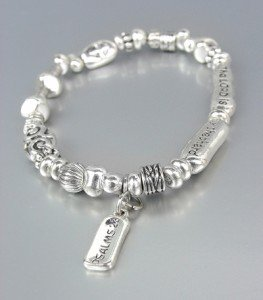 INSPIRATIONAL Petite Antique Silver PSALMS 23 The Lord is My Shepard Bracelet