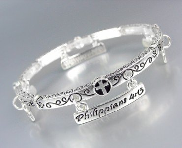 INSPIRATIONAL Scripture PHILIPPIANS 4:13 I CAN DO EVERYTHING Charms Bracelet