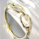 CHIC Designer Inspired Gold Horsebit Buckle Magnetic Clasp Bracelet