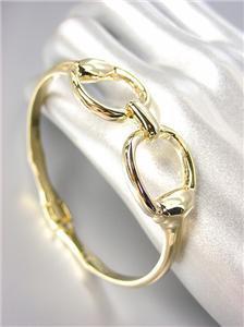 CHIC Designer Inspired Gold Horsebit Buckle Magnetic Clasp Bracelet