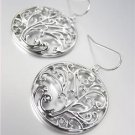 CLASSIC Brighton Bay Silver Filigree Texture Dangle Earrings