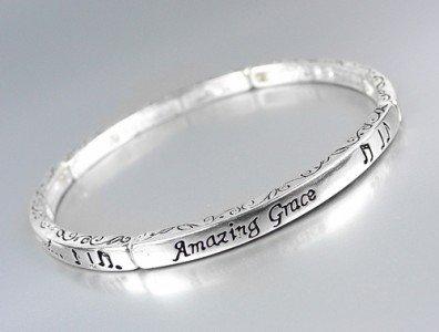 Inspirational Scripture AMAZING GRACE How Sweet Stretch Stackable Bracelet