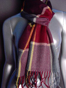 CLASSIC Multicolor Plaid CASHMERE TOUCH 100% Acrylic Scarf