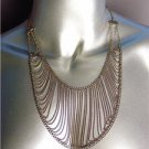 UNIQUE Bohemian Urban Anthropologie Antique Gold Metal Chain Drape Necklace