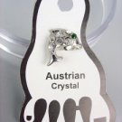 ADORABLE Clear Austrian Crystal DOLPHIN Invisible PETITE Toe Ring