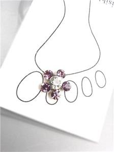 SPARKLE Lavender Clear Austrian Crystals Flower Invisible Illusion Toe Ring