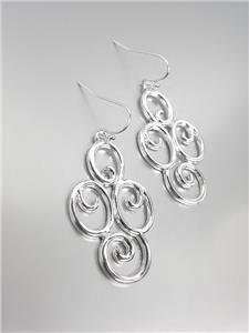 CLASSIC Brighton Bay Silver Filigree Dangle Earrings 51397