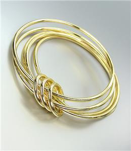 CHIC Urban Anthropologie 5 PC Gold Metal Bangle Bracelets Set
