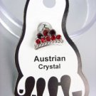 ADORABLE Red Austrian Crystal TIARA Invisible PETITE Toe Ring