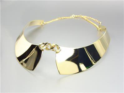 CHIC UNIQUE & STYLISH Gold Plated Faux Collar Chain Choker Necklace