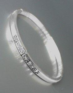CLASSIC NEW Brighton Bay Silver Filigree Clear CZ Crystals Stretch Bracelet #39
