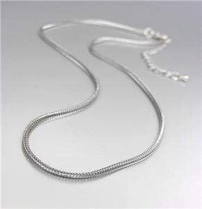 """CLASSIC Designer Style Thin Silver 16""""+2"""" Extender Foxtail Cable Chain Necklace"""