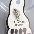 ADORABLE Iridescent Austrian Crystal SEA HORSE Invisible PETITE Toe Ring