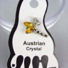 ADORABLE Yellow Brown Austrian Crystal TINKERBELL Invisible PETITE Toe Ring