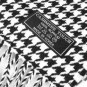 CLASSIC Black White Houndstooth Hounds Tooth CASHMERE TOUCH 100% Acrylic Scarf